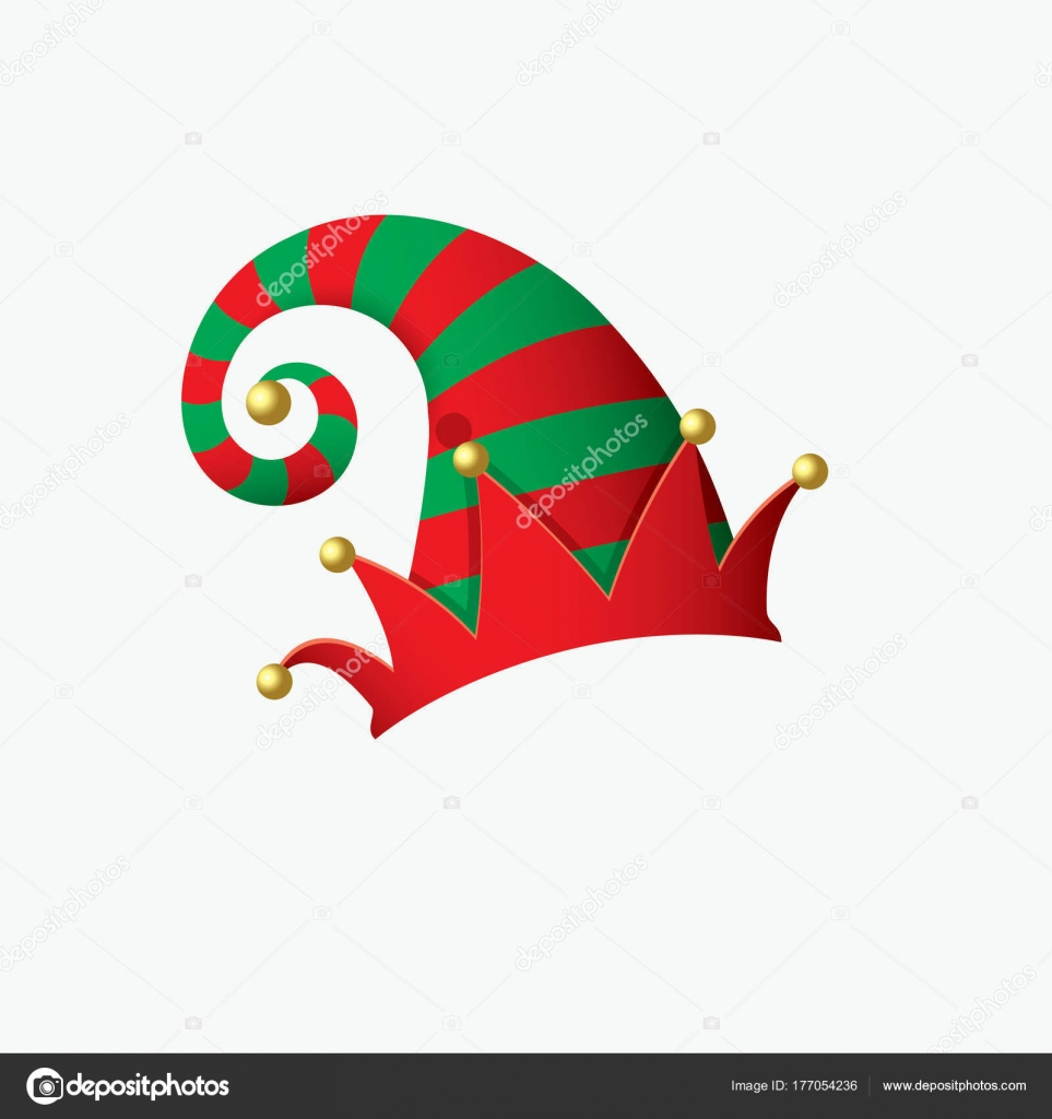 elf hat santa claus helper isolated vector illustration stock