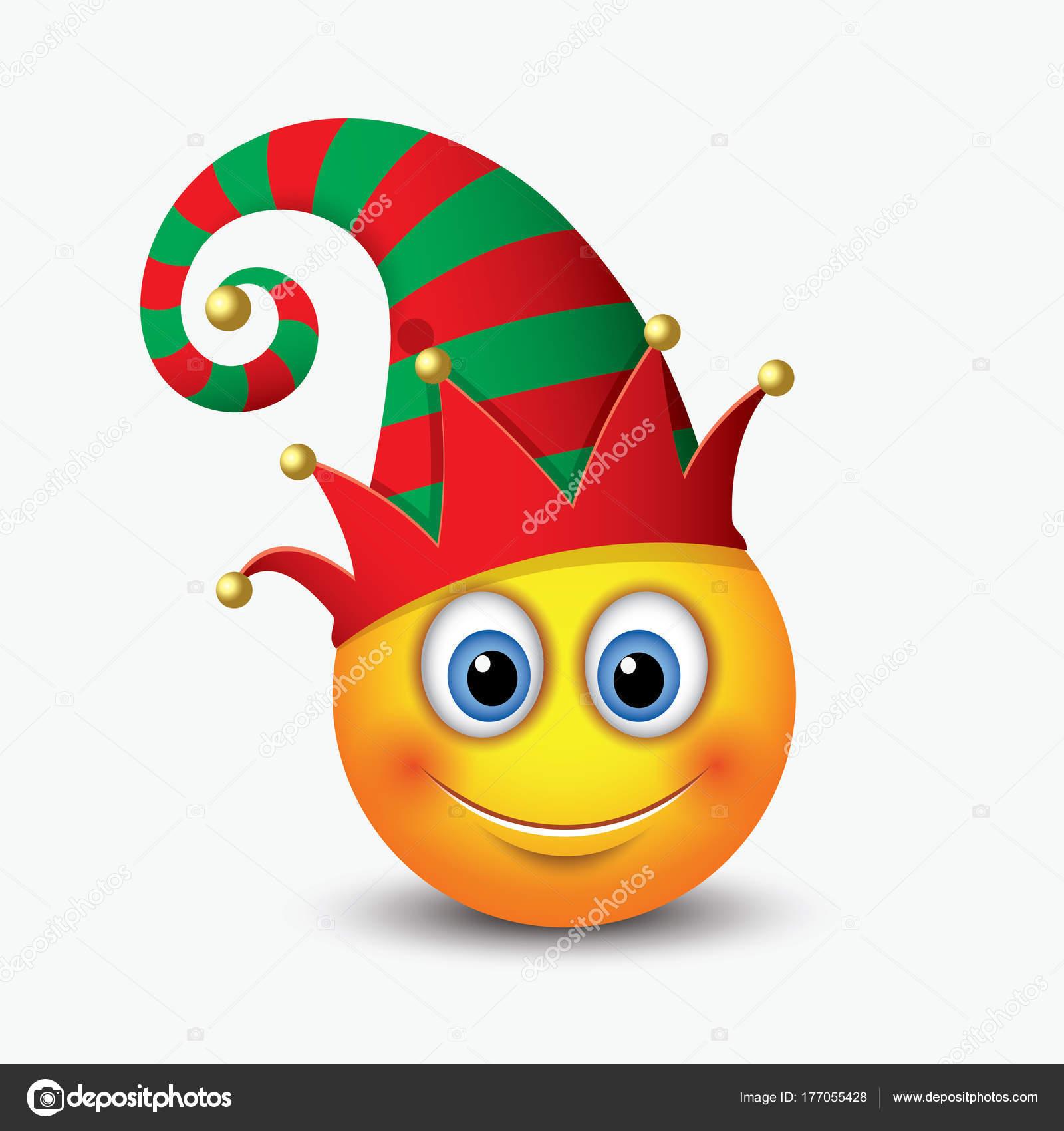 Süße Weihnachten Elf Santa Calus Helfer Emoticon Mit Elf Ohren ...