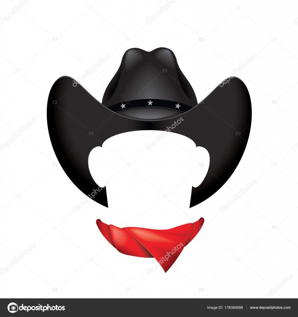 diversos estilos lista nueva Excelente calidad Vector: sombreros png   Sombrero Vaquero Negro Bufanda ...