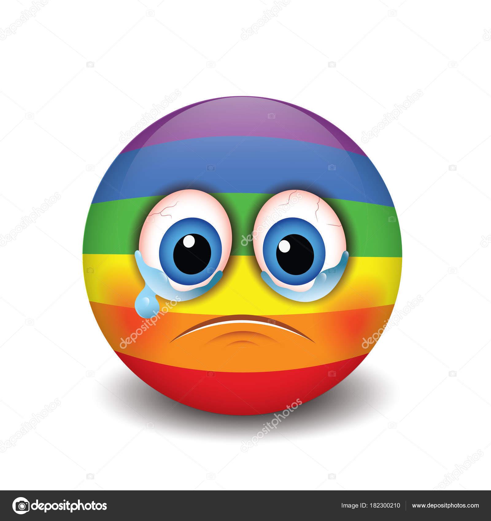 Pleurer Une Émoticône Triste Emoji Smiley Illustration Vectorielle — Image vectorielle I ...