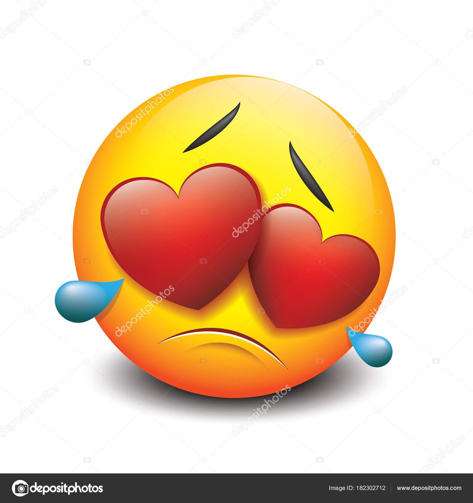 Cute love emojis | Cute Crying Sad Emoticon Love Emoji