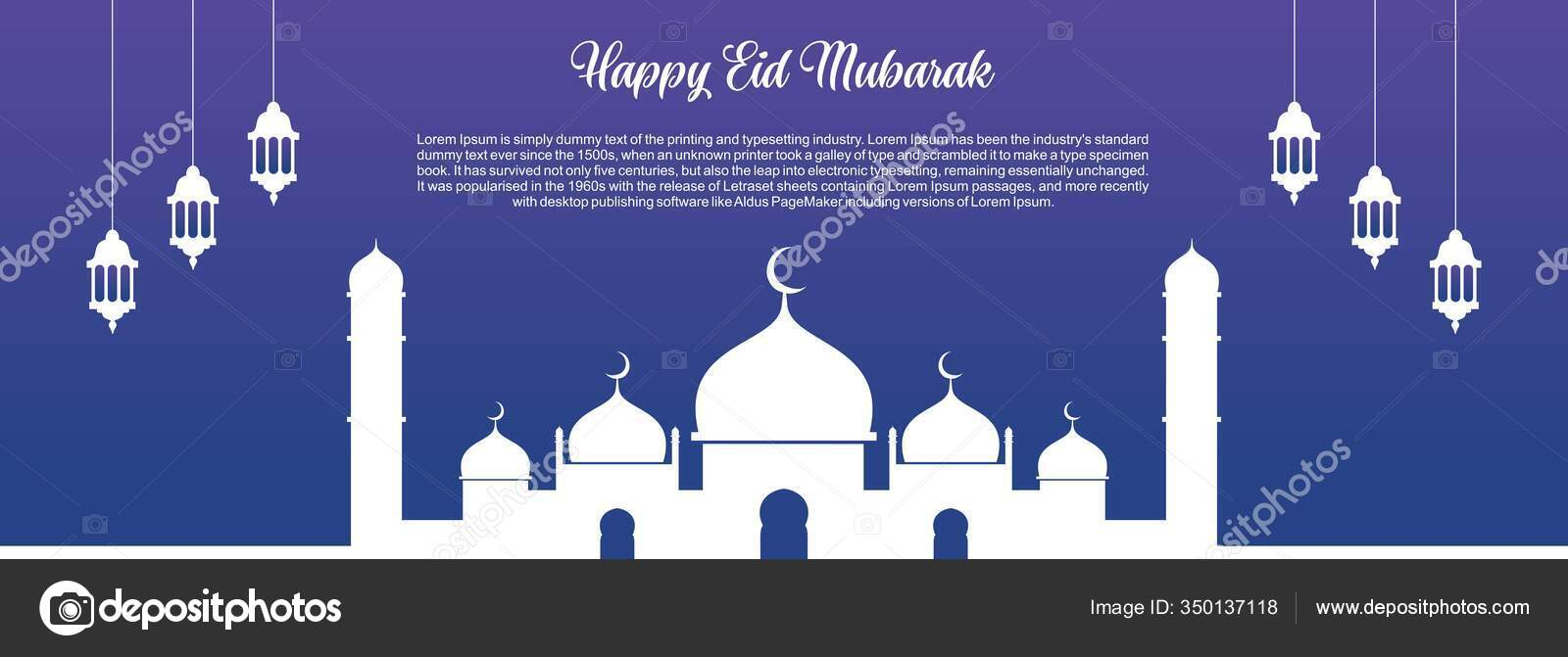 islamic background happy eid mubarak banner illustration islamic greeting card stock vector c saturdaynight design and branding 350137118 https depositphotos com 350137118 stock illustration islamic background happy eid mubarak html