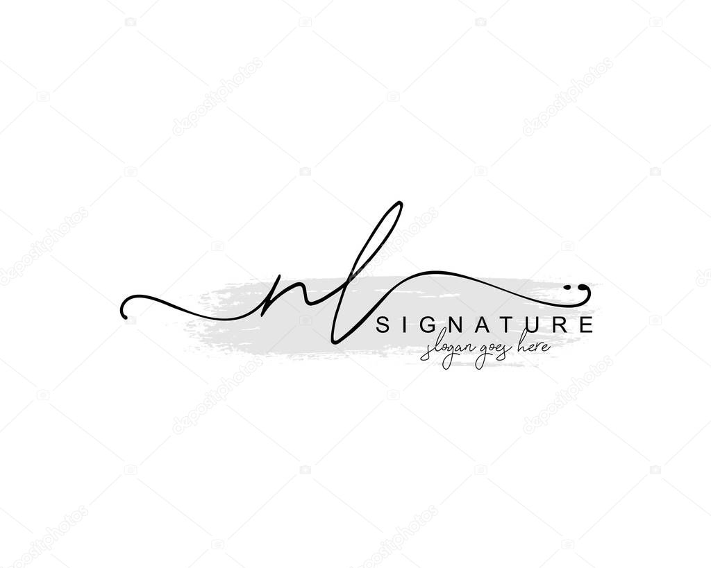Initial Nl Beauty Monogram And Elegant Logo Design Handwriting Logo Of Initial Signature Wedding Fashion Floral And Botanical With Creative Template Premium Vector In Adobe Illustrator Ai Ai Format