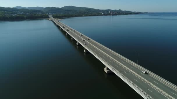 a very long bridge road,multilane road,aerial wiev