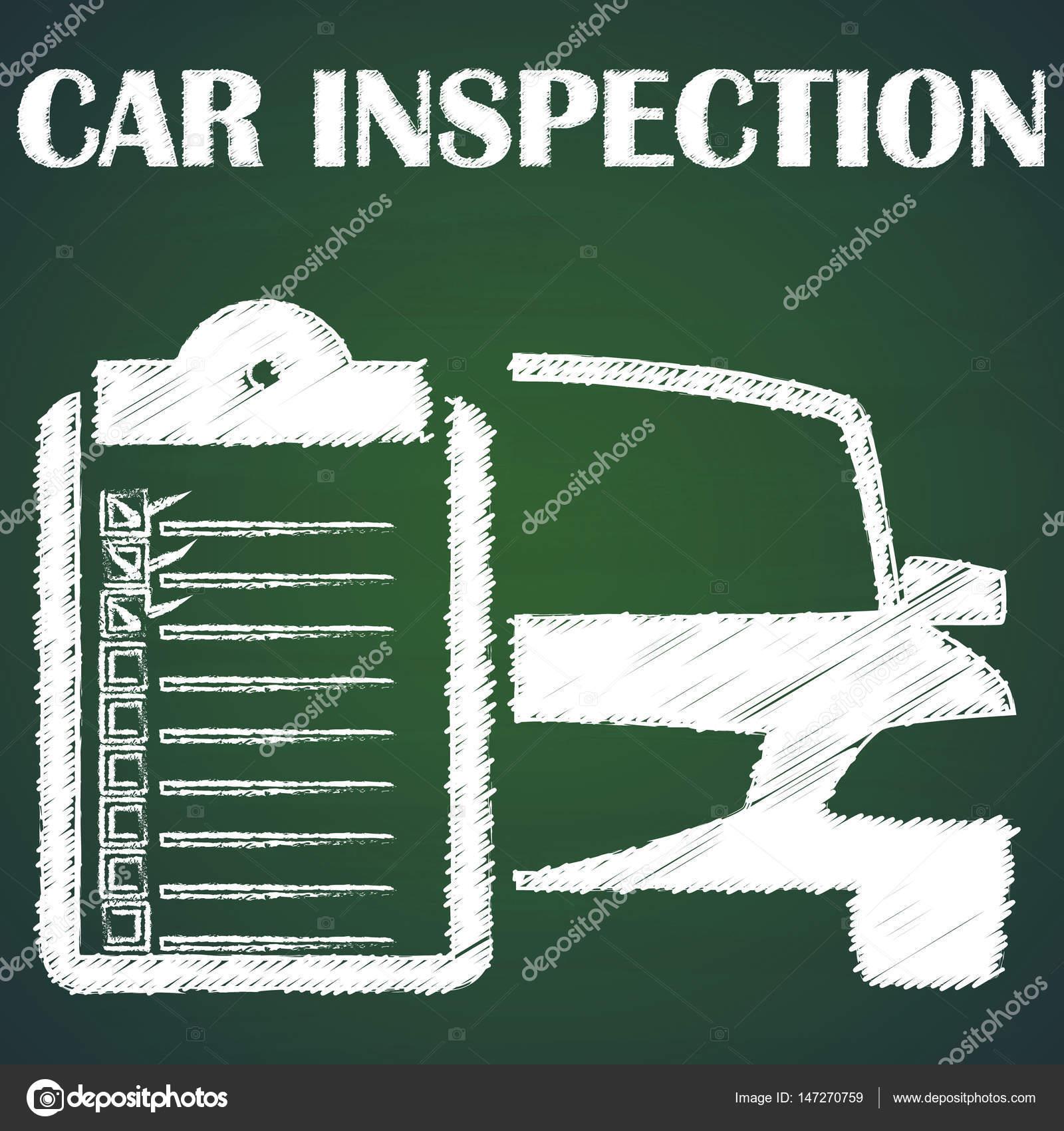 Auto inspección por tiza — Archivo Imágenes Vectoriales ...