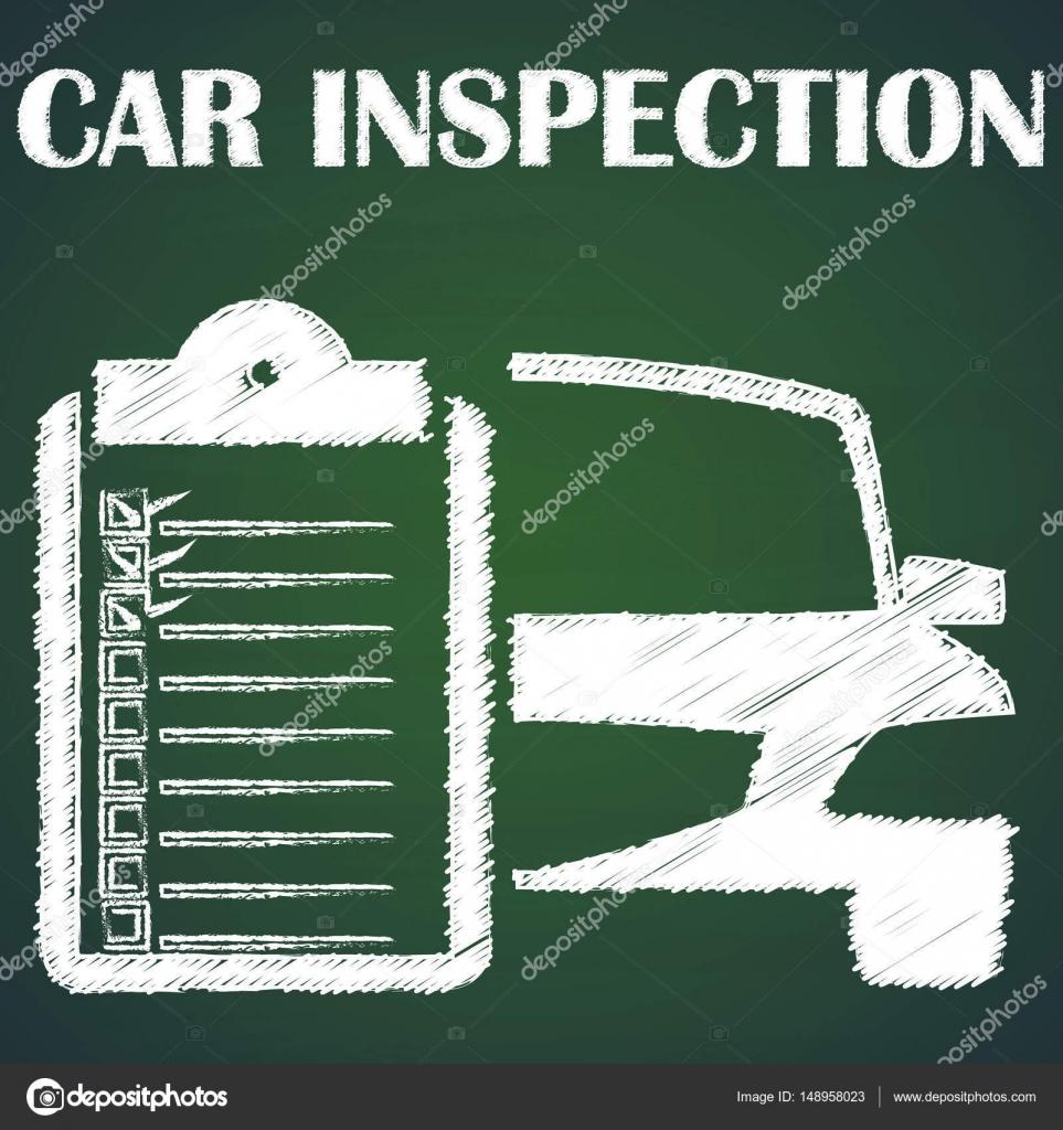 Auto Inspektion durch Kreide — Stockvektor © Masterkoii #148958023