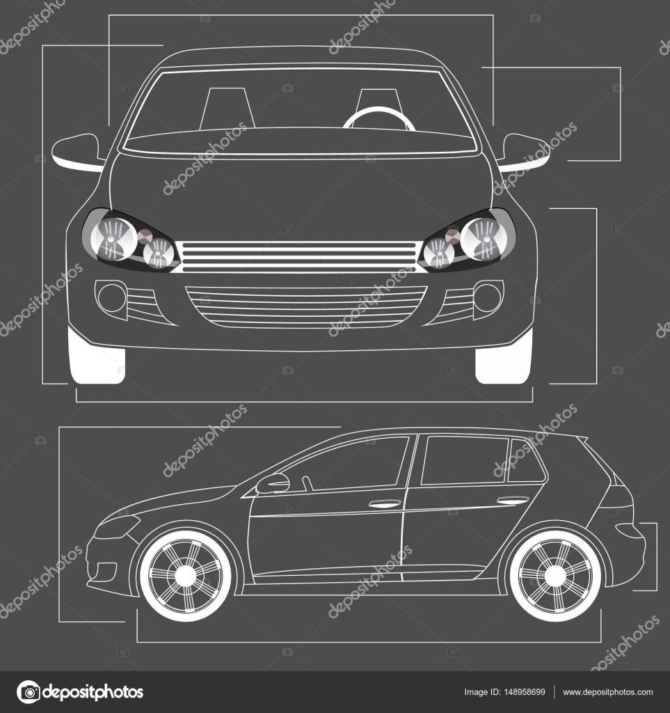 Auto-Strichzeichnungen auf Tafel — Stockvektor © Masterkoii #148958699