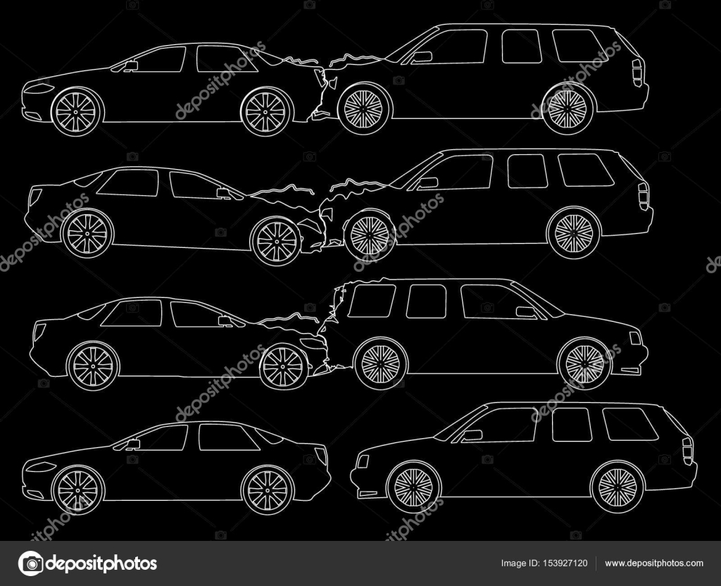 Accident car icons Hand Drawing — Stock Vector © Masterkoii #153927120