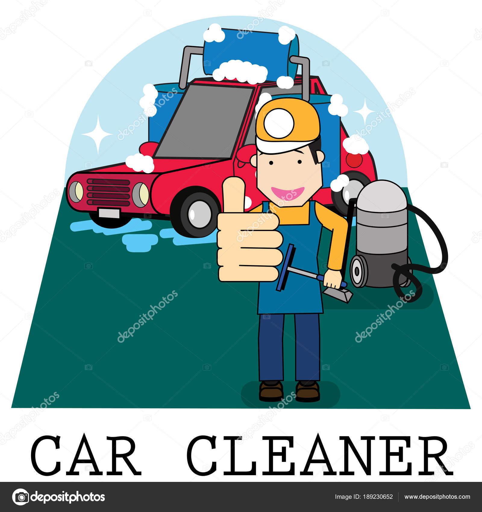 personal muestra su pulgar en el servicio de lavado de coches ...