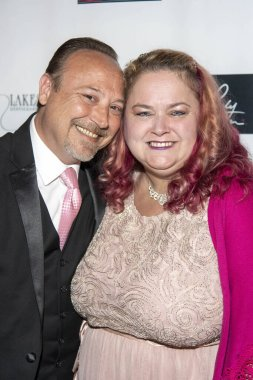 Keith Coogan, Pinky Coogan attends The 5th Annual Roger Neal & Maryanne Lai Oscar Viewing Dinner - Icon Awards at The Hollywood Museum, Hollywood, CA on February 9, 2020