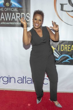 Annie McKnight attends 2nd Annual HAPAWARDS, Hollywood and African Prestigious Awards at Alex Theatre, Glendale, California on September 30th, 2018