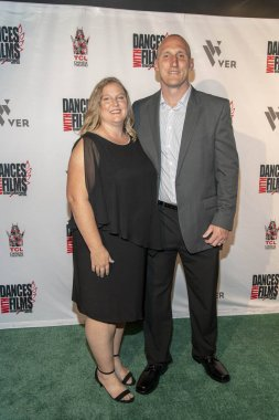 Chris Barber with wife Amanda attends 90 Feet From Home Dances With Films Festival World Premiere at TCL Chinese Theatre, Hollywood, CA on June 20, 2019.