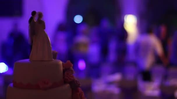 Svatební dort pozadí tance