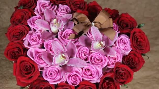 Vörös Rózsa virágok csokor romantikus romantikus szerelem
