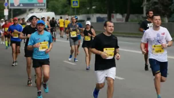 DNIPRO, UKRAINE- MAY 26: Marathon runners at the 4rd INTERPIPE Dnipro Half Marathon 2019 May 26, 2019 in Dnipro, Ukraine