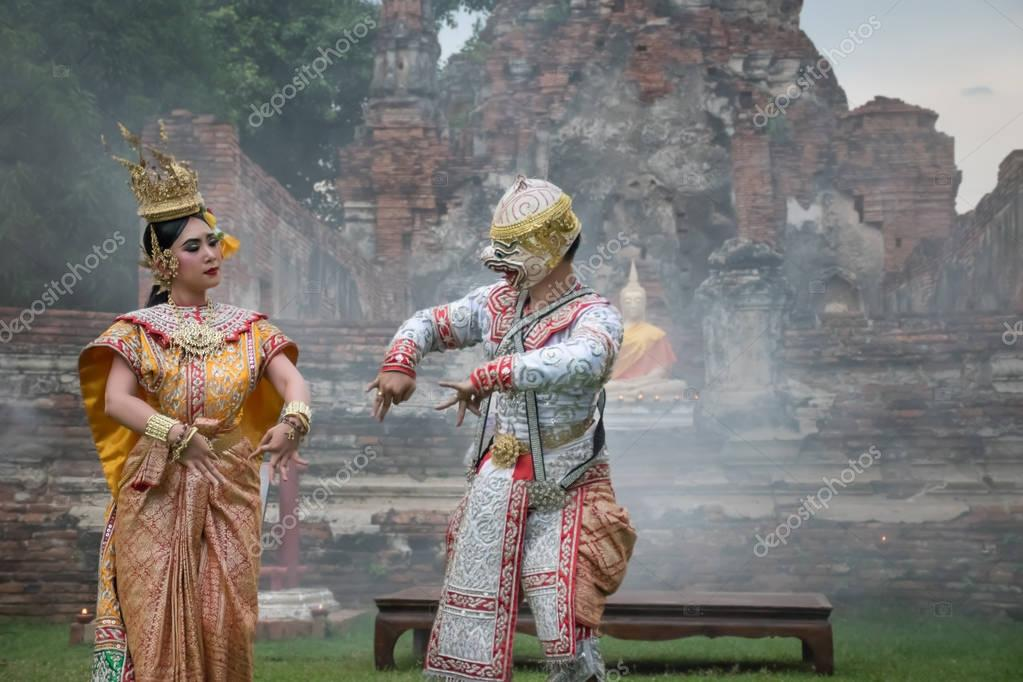 Khon Mask Traditional Thai drama dance – Stock Editorial