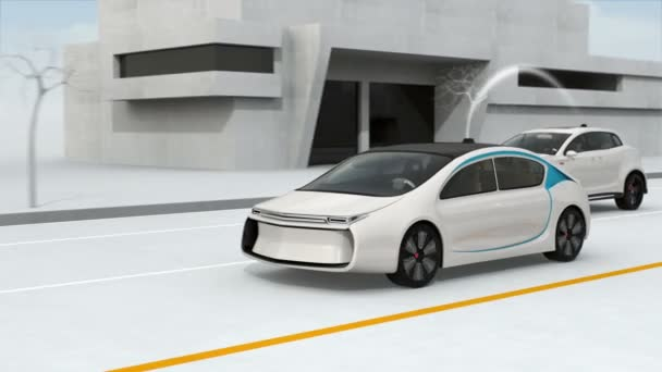 Connected cars and autonomous cars concept