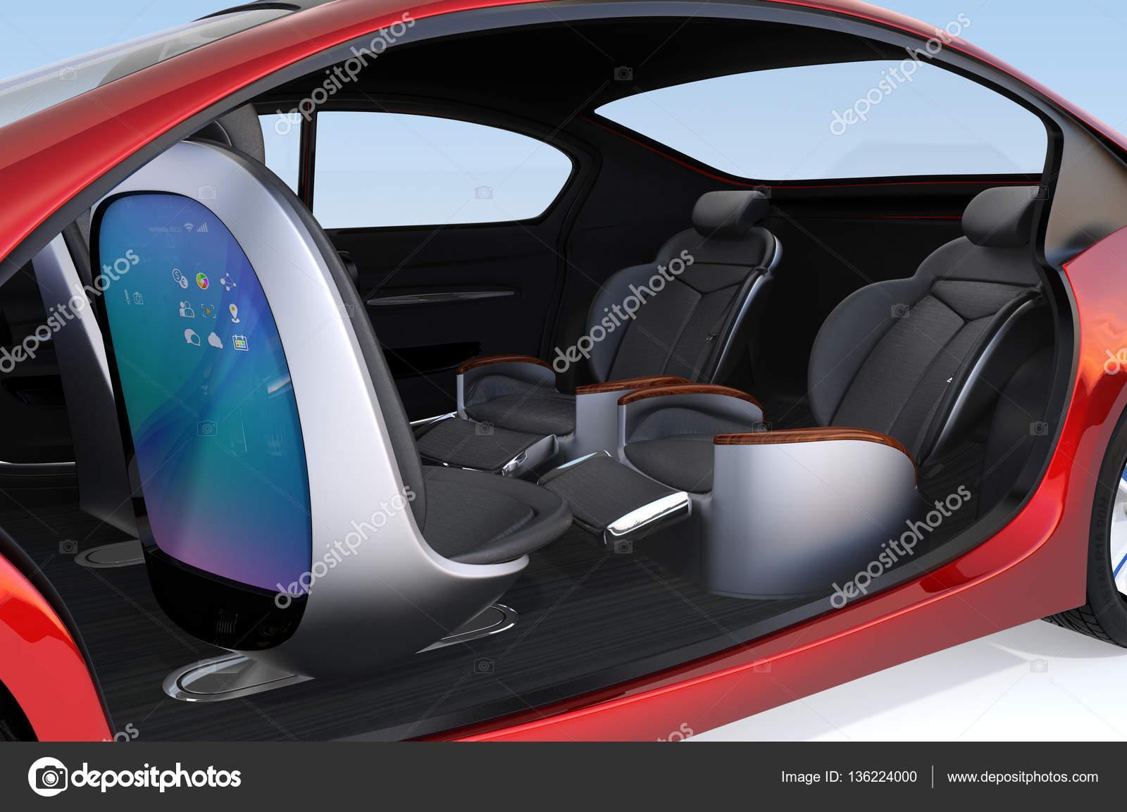 Business-Meeting Sitze Layout in autonome Auto — Stockfoto ...
