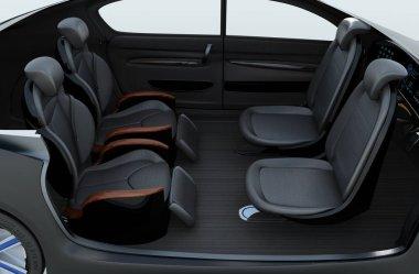 Business meeting seats' layout in autonomous car