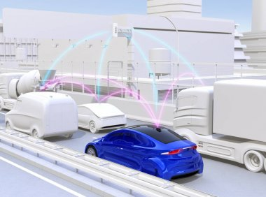 Cars sharing traffic information by connected car function