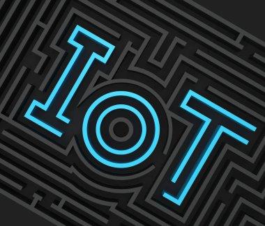IoT maze graphic