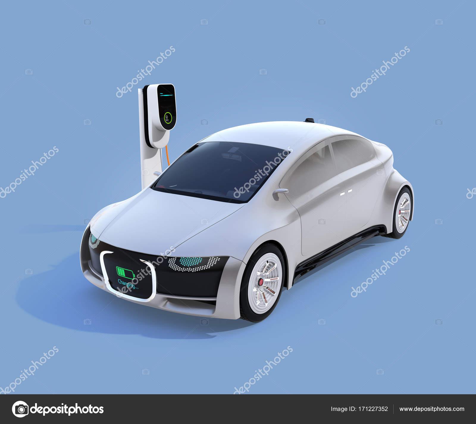 Elektrische Auto Opladen In Het Laadstation Stockfoto C Chesky W