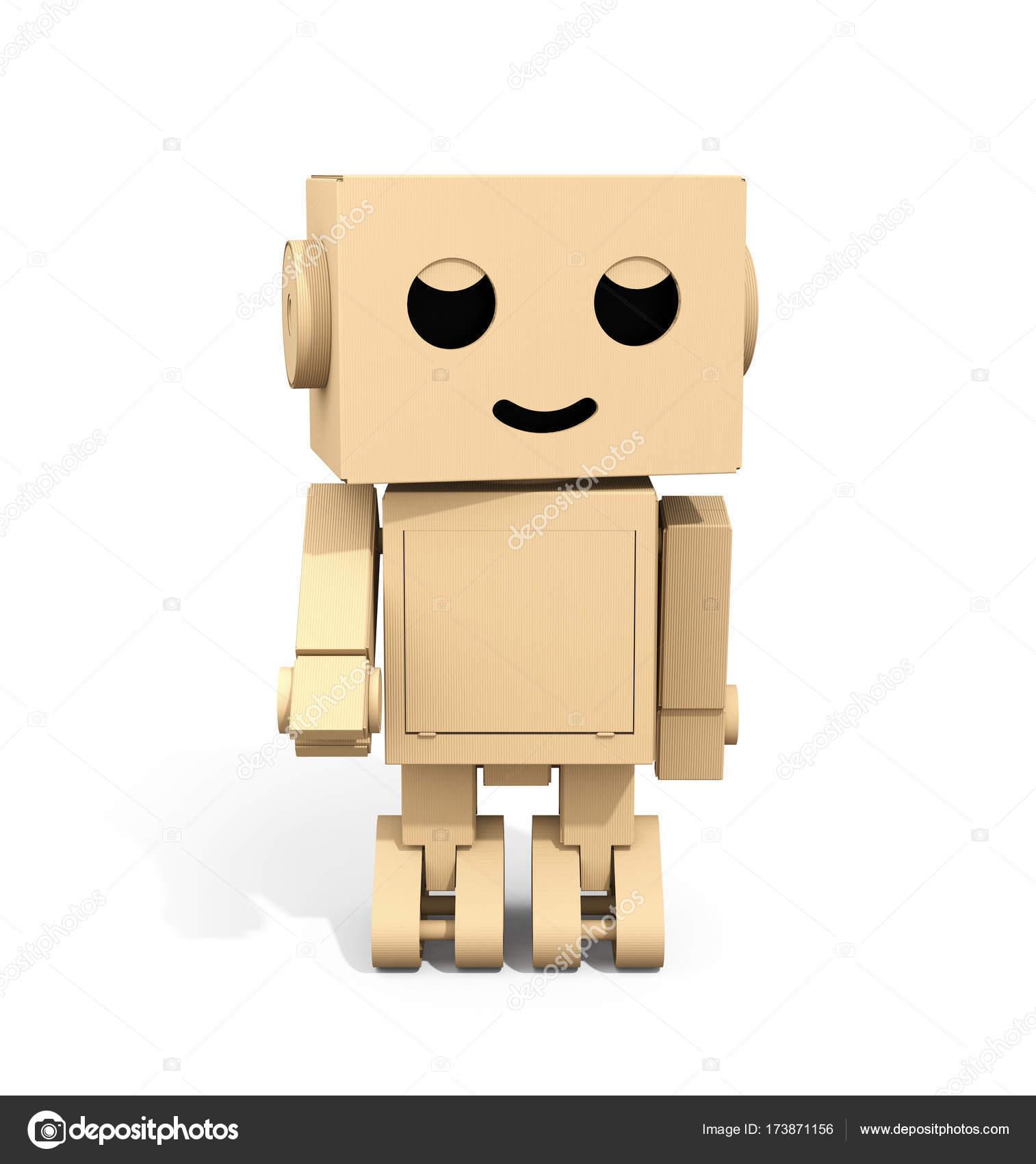 im genes robots animados 3d vista frontal del robot de cart n lindo de dibujos animados. Black Bedroom Furniture Sets. Home Design Ideas