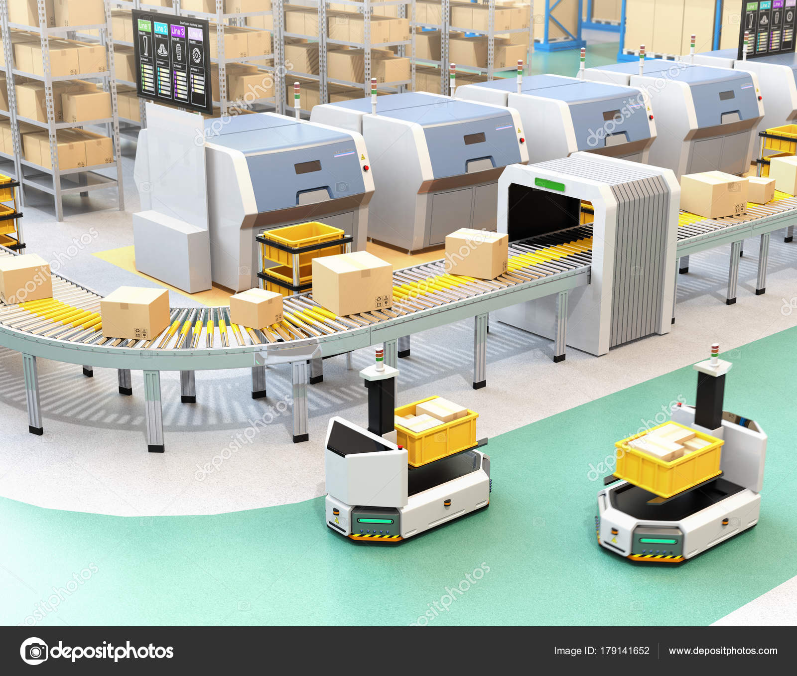 Self Driving Agv Automatic Guided Vehicle Forklift Carrying