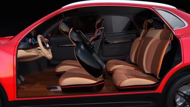 Electric self driving suv car interior design front seats equipped electric self driving suv car interior design front seats equipped stock video solutioingenieria Choice Image
