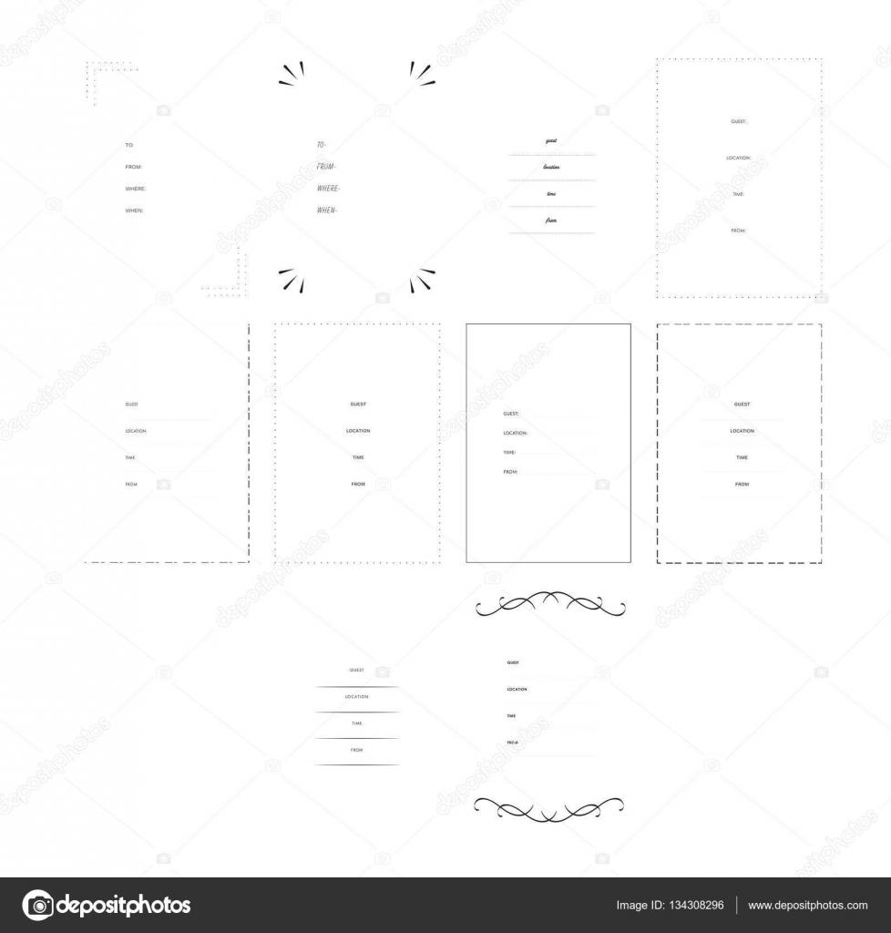 Einladung Vorlagen mit unterschiedlichen Grenzen — Stockvektor ...