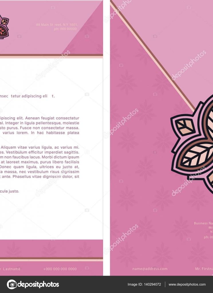 Mahnschreiben Vorlage mit Lorem Ipsum Text und logo — Stockvektor ...