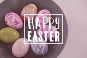 mísa s malovaná velikonoční vajíčka