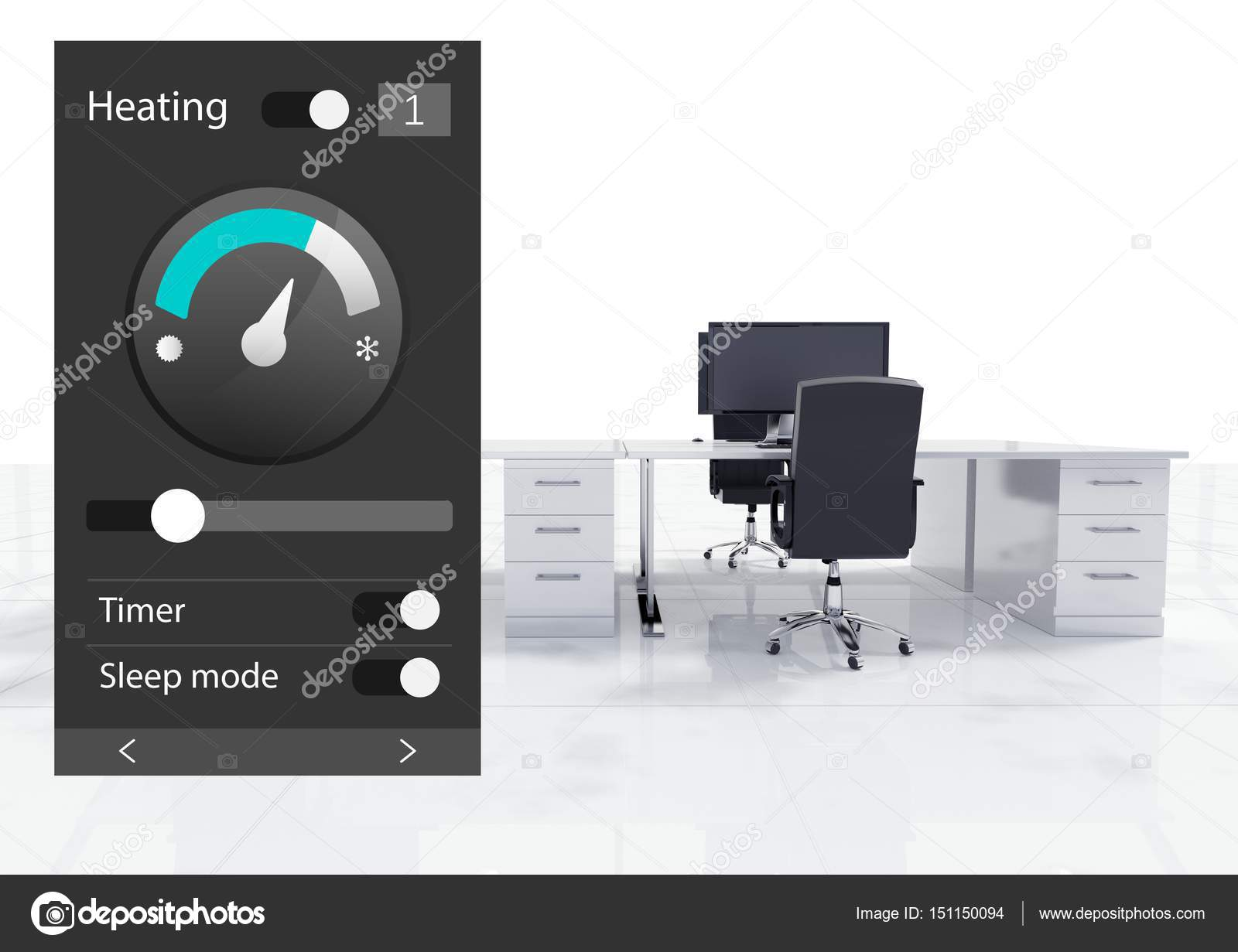 office automated system. Digital Composite Of Office Automation System Heating Temperature App Interface \u2014 Photo By Vectorfusionart Automated