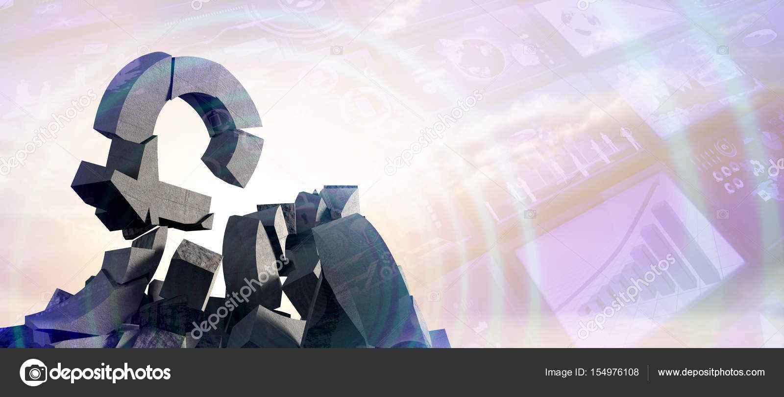 Various Damaged Currency Symbols Stock Photo Vectorfusionart