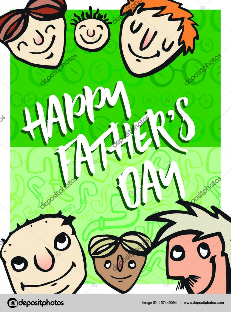 Greeting card with fathers day message stock vector greeting card with fathers day message stock vector m4hsunfo