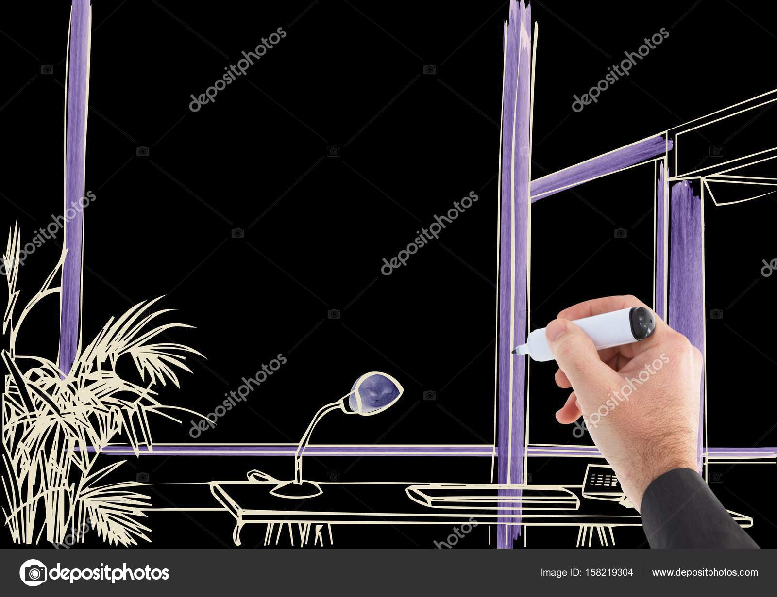 3d Hand Drawing Office Lines Stock Photo C Vectorfusionart