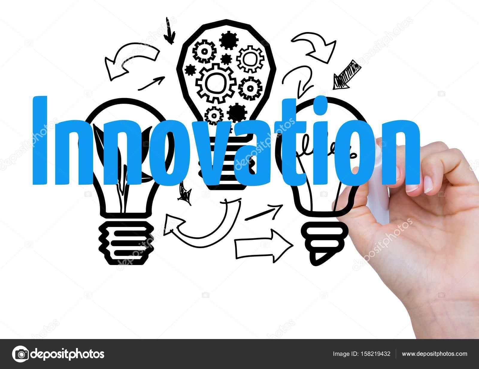 3D mano escribir innovación — Foto de stock © vectorfusionart #158219432