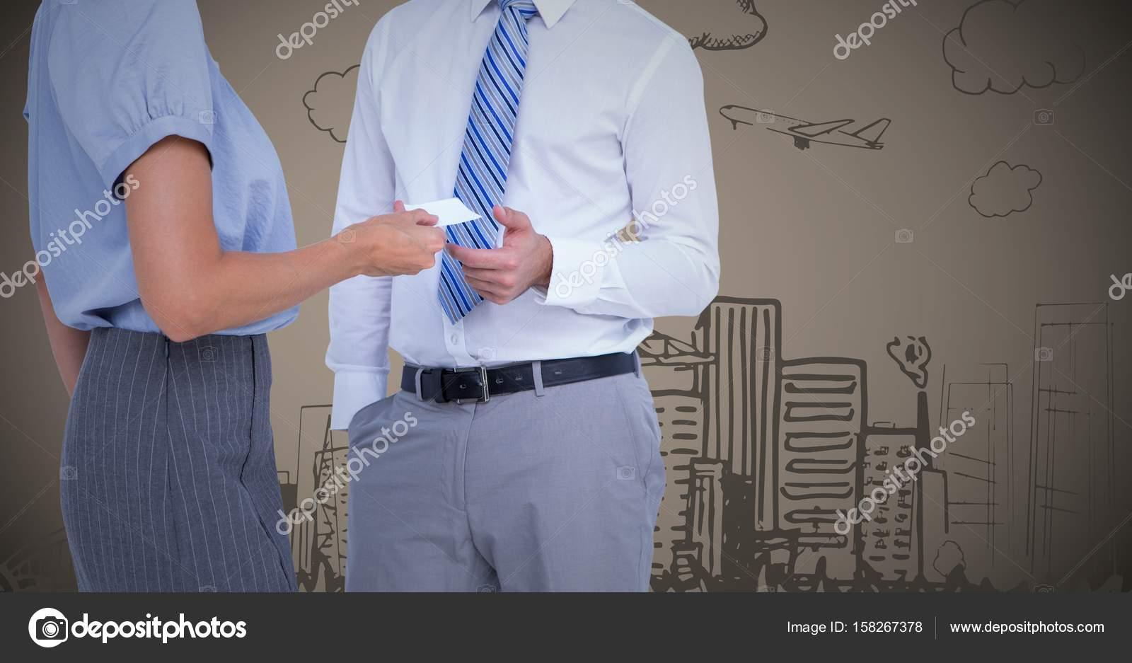 Menschen tauschen Visitenkarte — Stockfoto © vectorfusionart #158267378