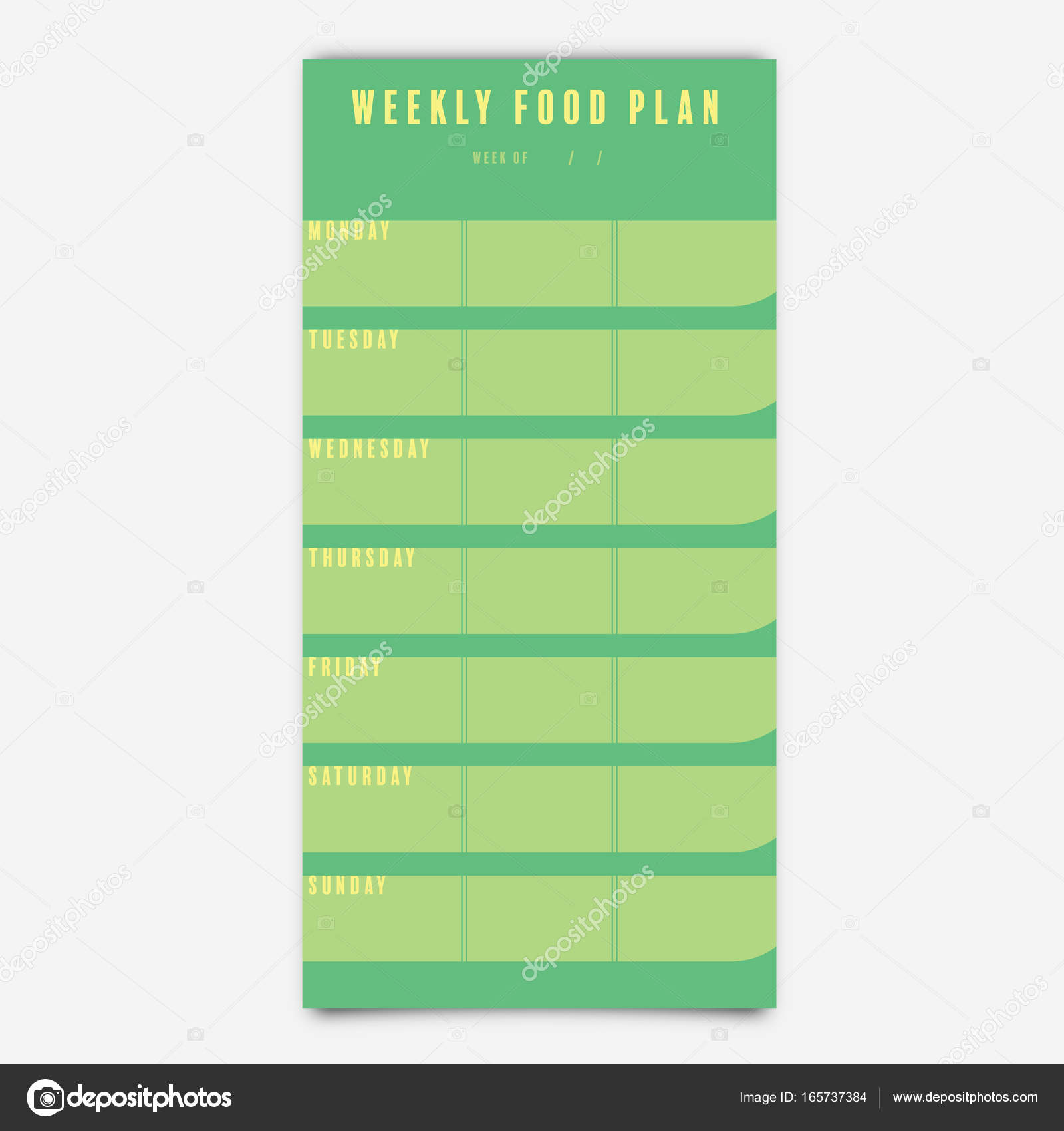 Food Planner Template from st3.depositphotos.com