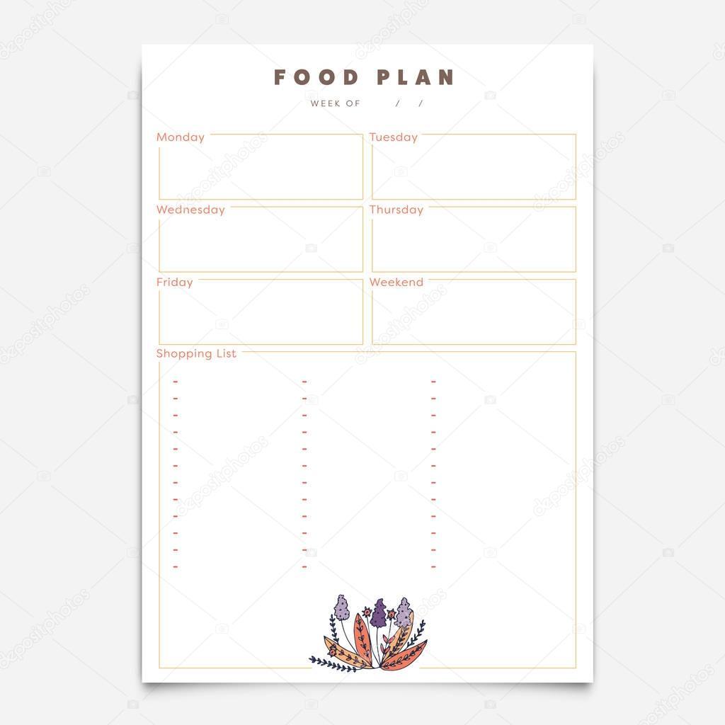 Nett Monatliche Mahlzeit Planer Vorlage Fotos - Entry Level Resume ...