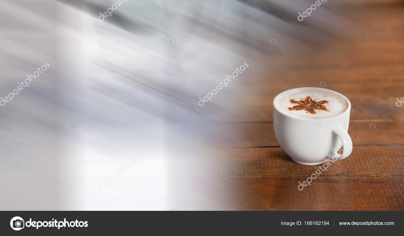 tasse caf blanche avec toile photographie. Black Bedroom Furniture Sets. Home Design Ideas