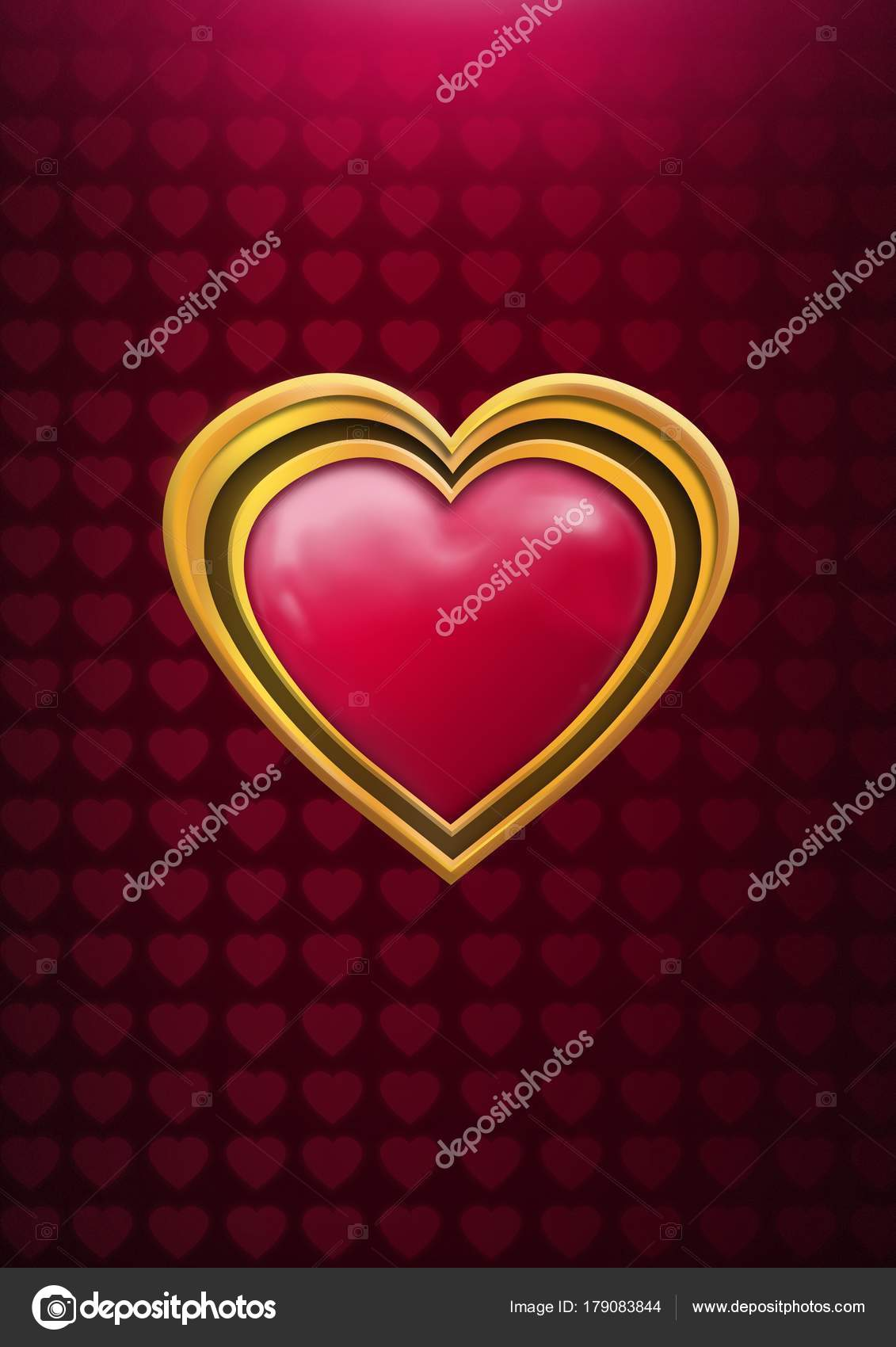 Imagenes Corazones De Amor Compuesto Digital Grafico Brillante