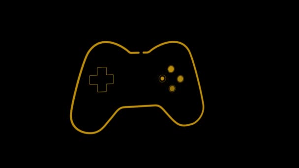 Animation Orange Outline Video Game Controller Play Buttons Pulsating Throbbing Stock Video C Vectorfusionart 341895584
