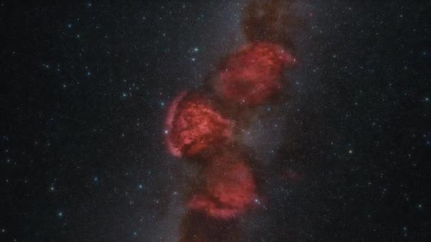 vesmírná loď letí rychlostí světla přes galaxii 4k animace