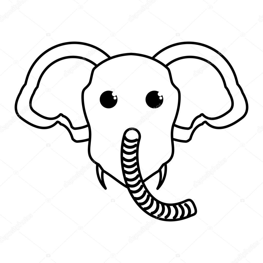 Imágenes Elefantes Tiernos Para Dibujar Icono Aislado Animal