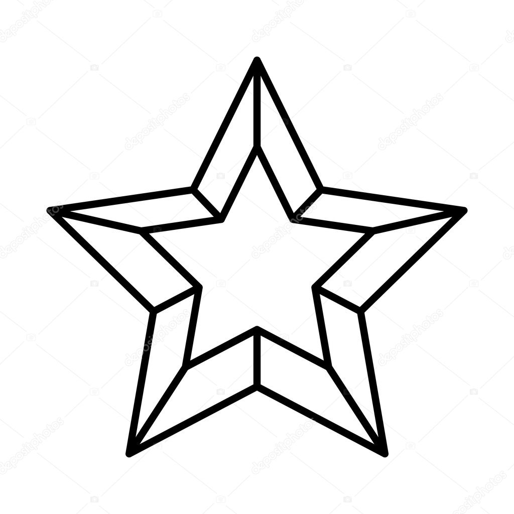 Stern Frohe Weihnachten.Frohe Weihnachten Stern Isoliert Symbol Stockvektor C Djv