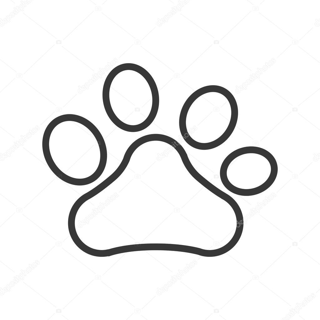 Imágenes Huellas De Perritos Icono Aislado De Huella Perro
