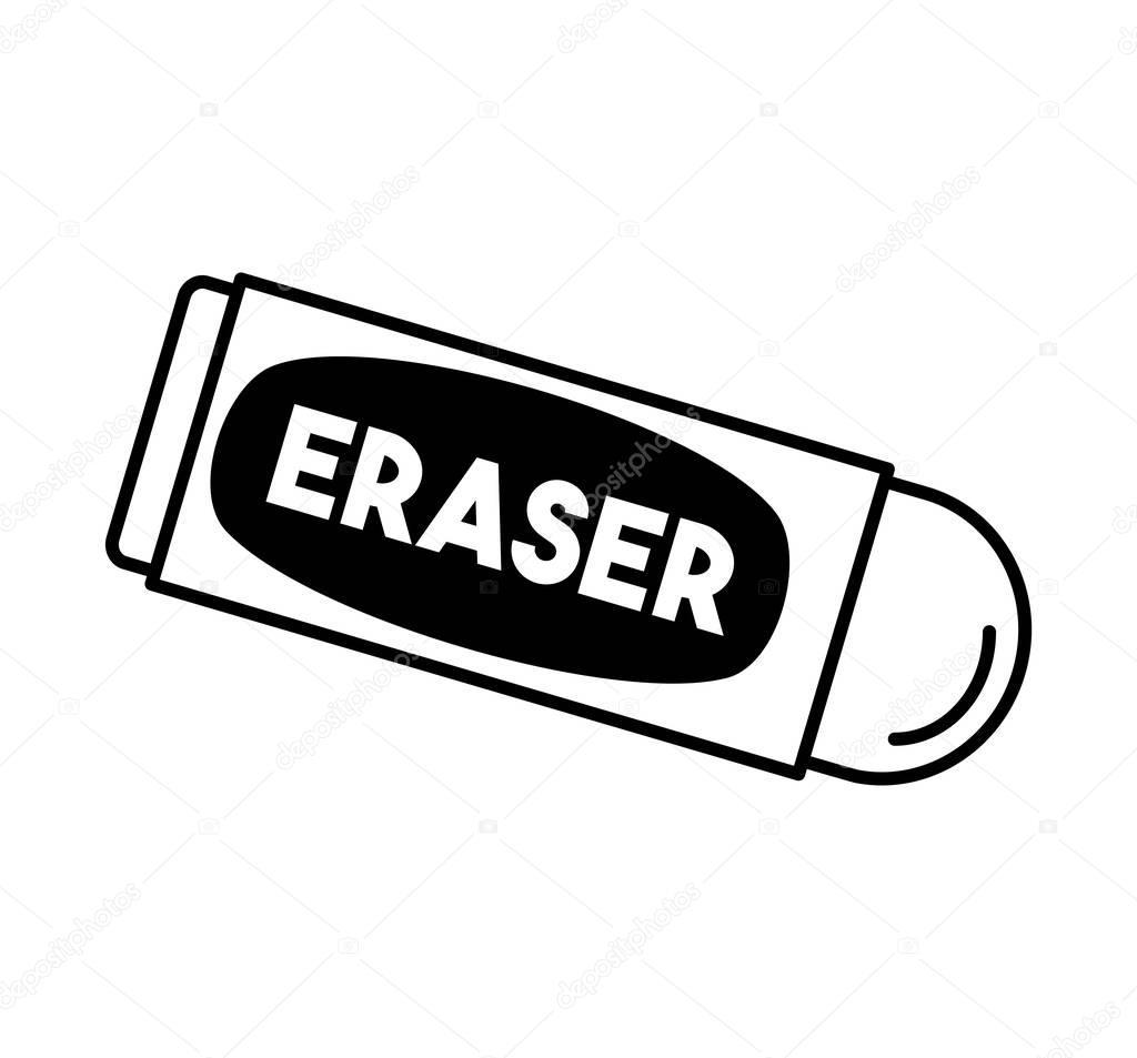eraser school supply isolated icon stock vector c djv 129010852 https depositphotos com 129010852 stock illustration eraser school supply isolated icon html