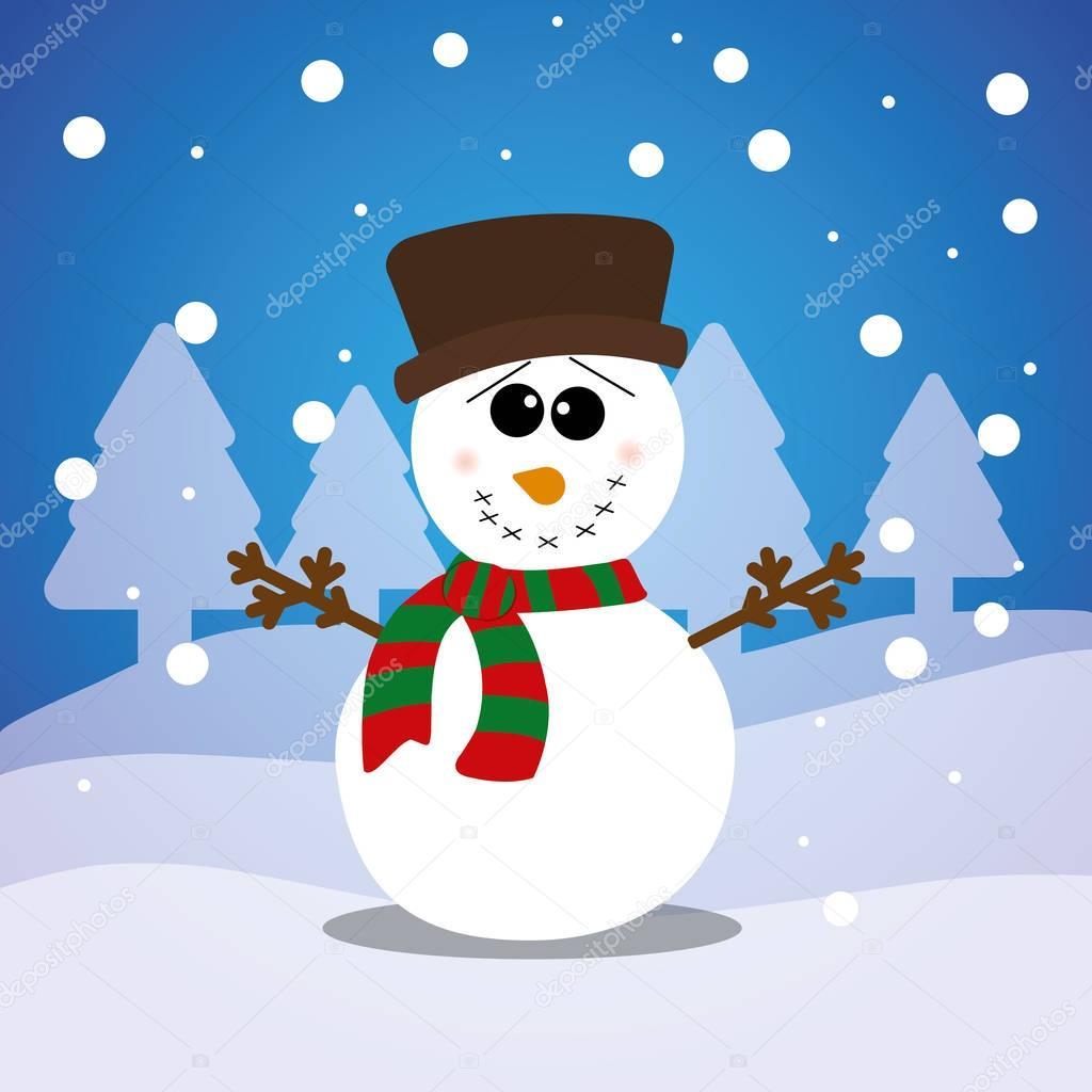 Frohe Weihnachten Schneemann Karte — Stockvektor © djv #129238724