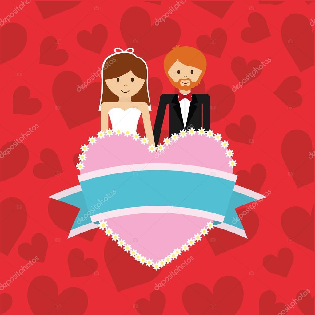0035ede429d9 Bröllop äktenskap kärlek ikon vektor illustration grafisk design — Vektor av  ...